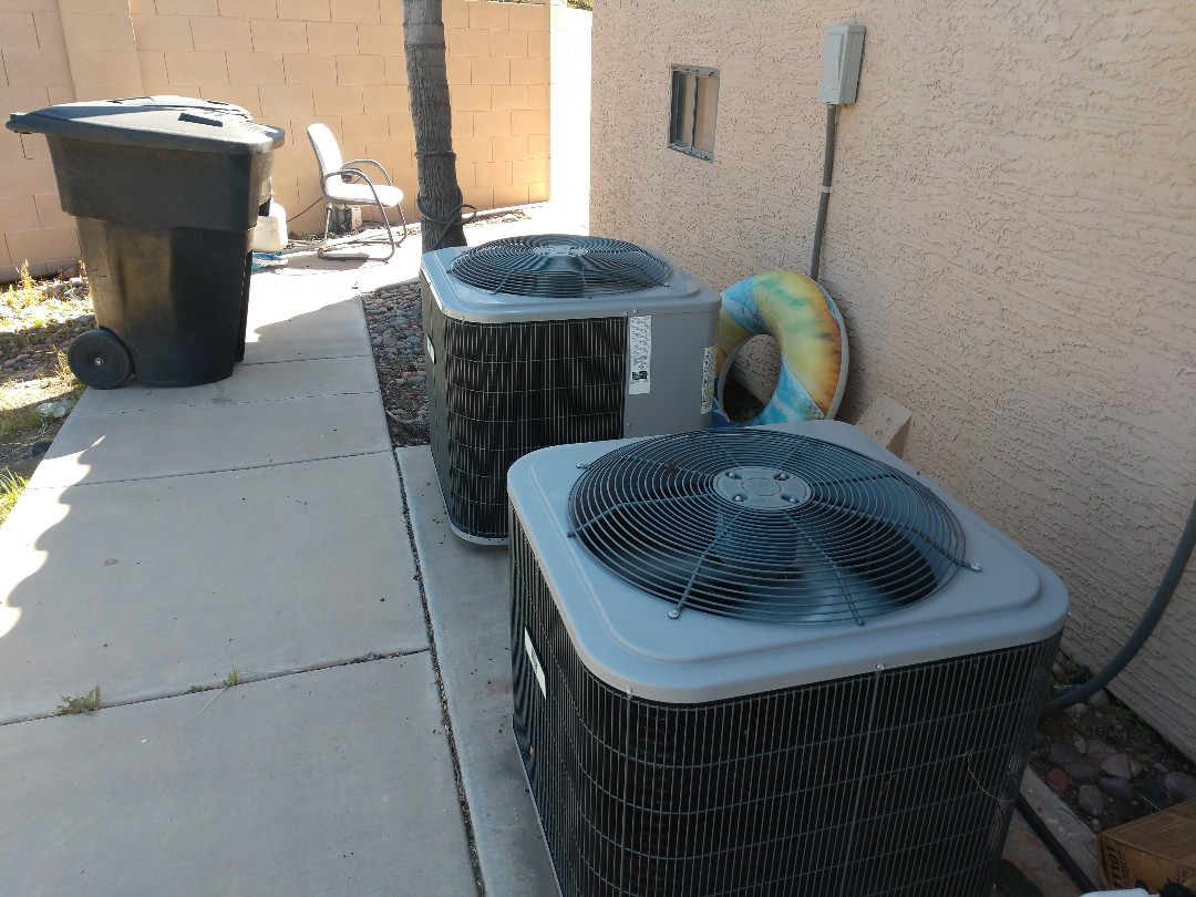 Gilbert, AZ - Air conditioning repair. Repaired day & night heat pump