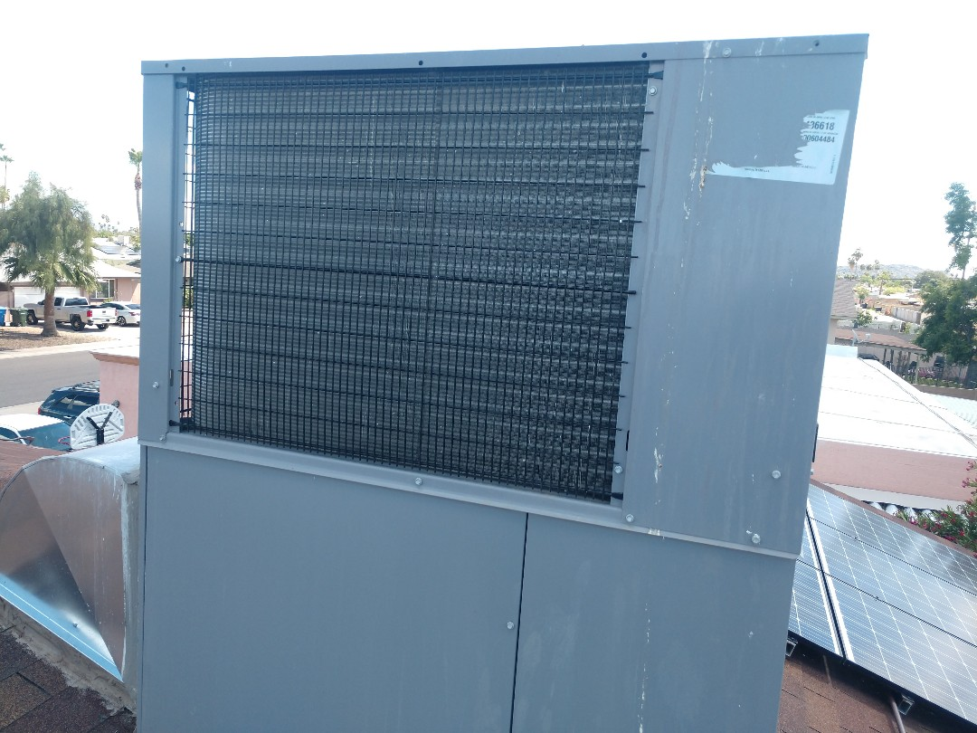 Phoenix, AZ - Air conditioning inspection. Performed ac maintenance on day & night heat pump