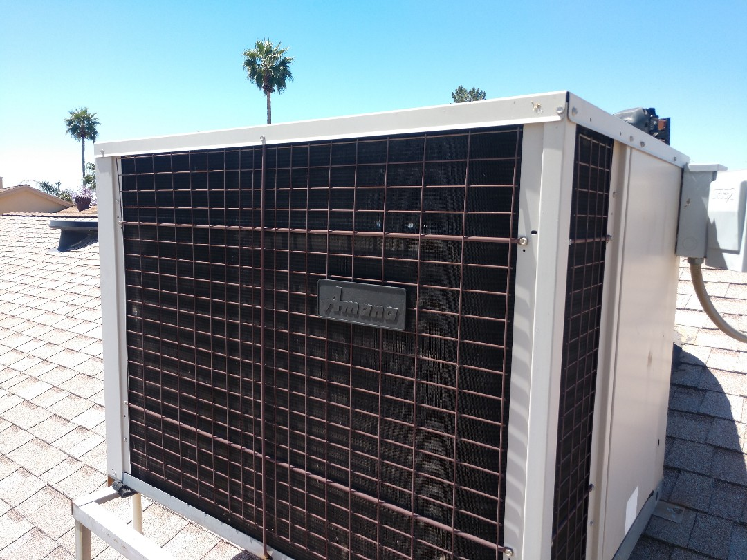 Scottsdale, AZ - Ac maintenance. Performed ac tune up on Amana heat pump