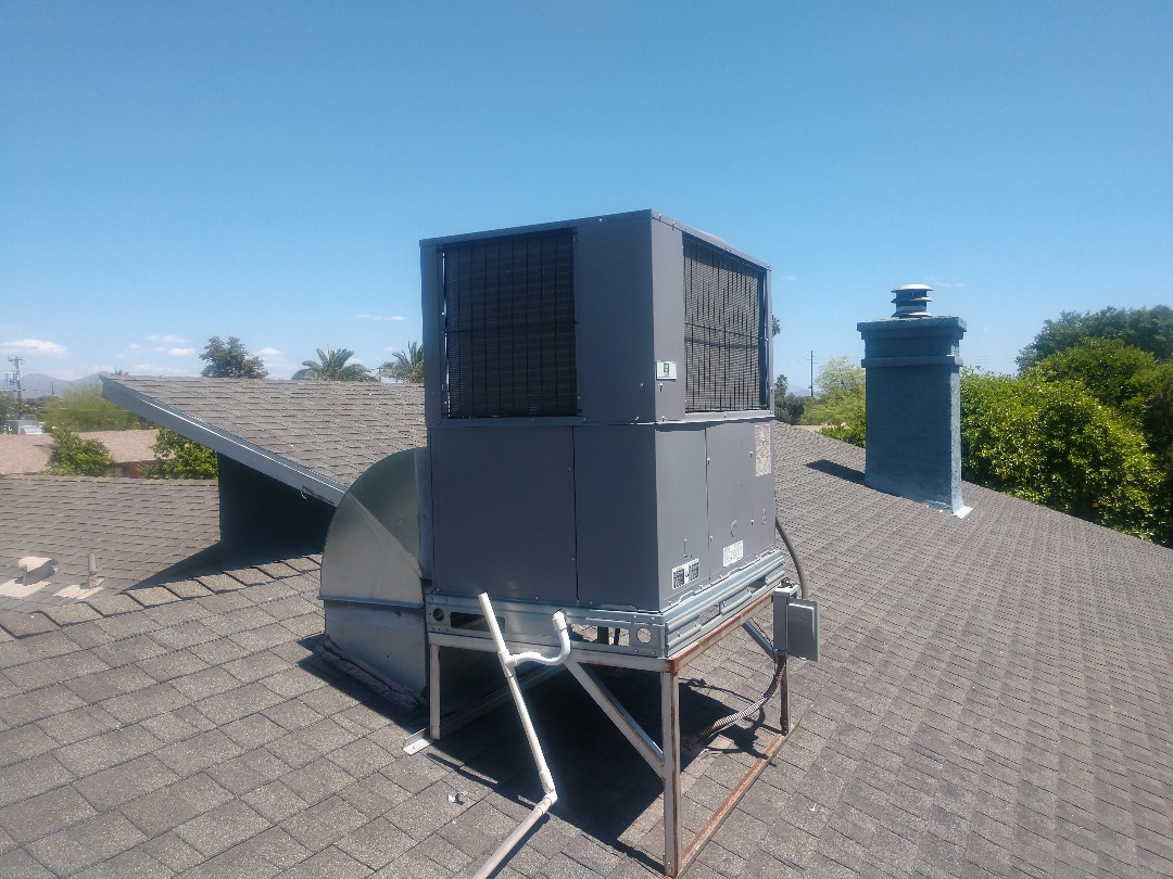 Scottsdale, AZ - Ac maintenance. Performed air conditioning inspection on day & night heat pump