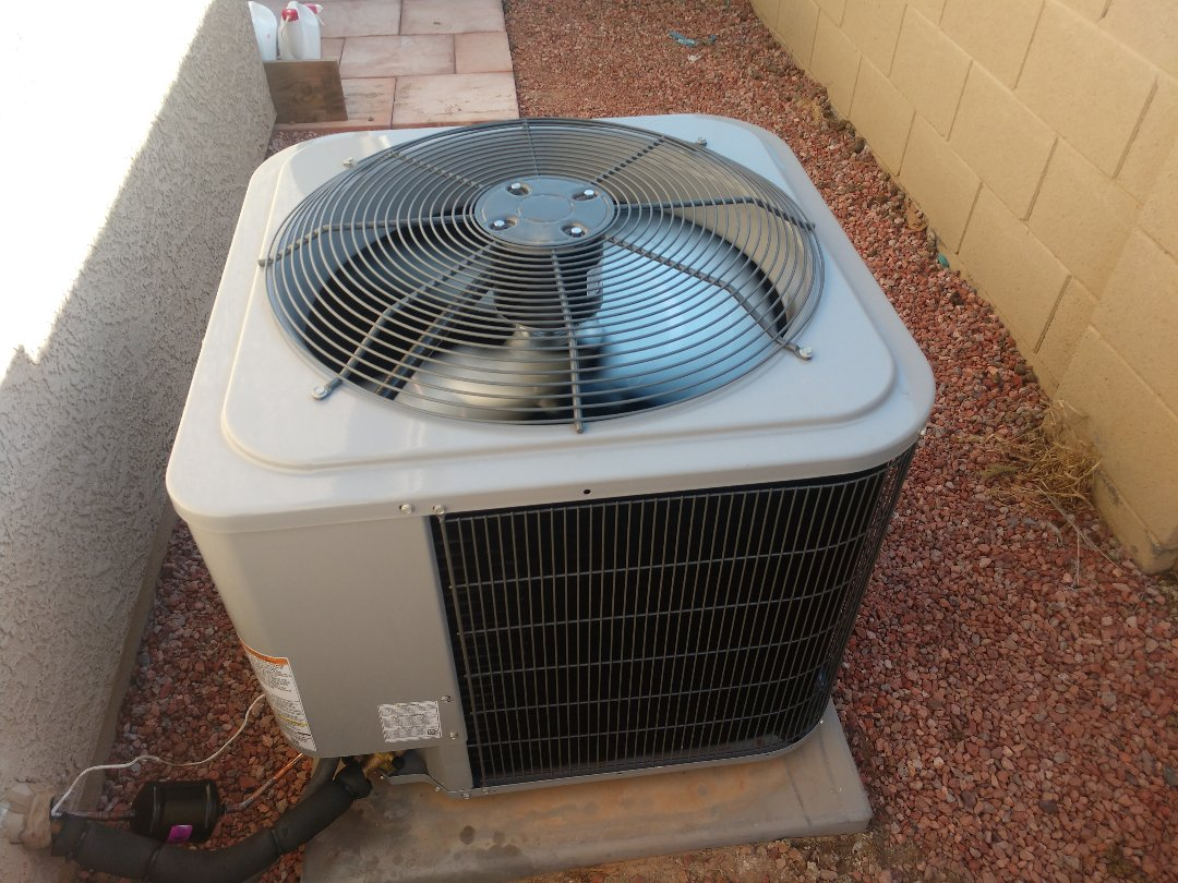 Queen Creek, AZ - Air conditioning installation. Installed day and night heat pump