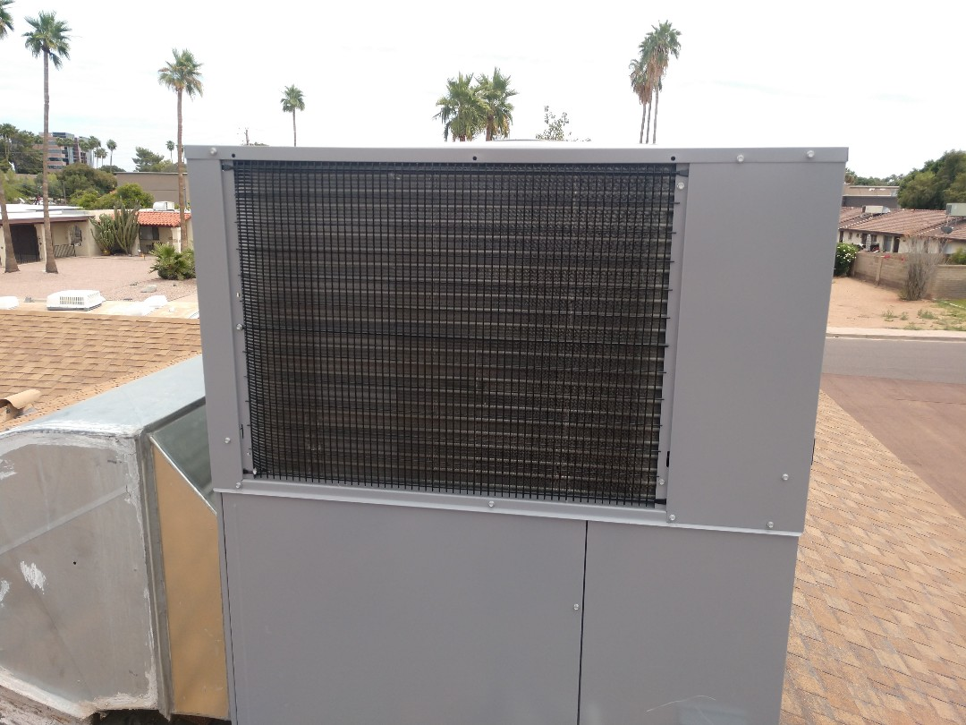 Tempe, AZ - Air conditioning installation. Installed day and night package heat pump