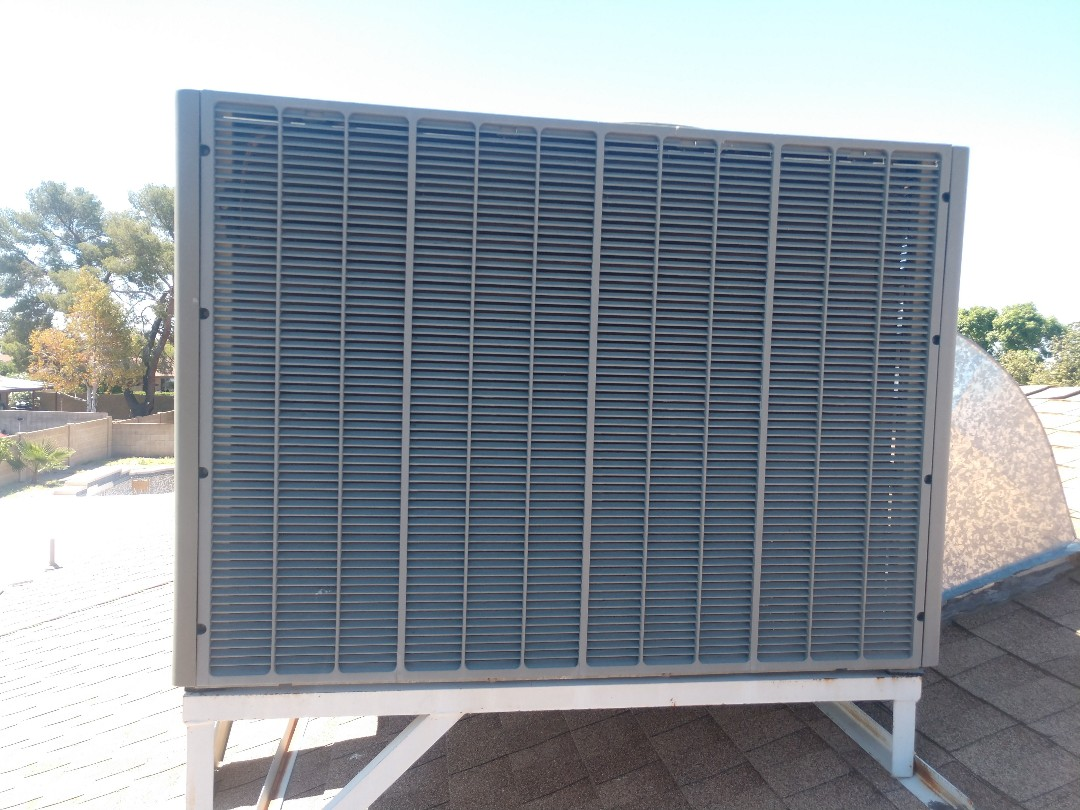 Glendale, AZ - Air conditioning inspection.performed ac maintenance on trane package heat pump
