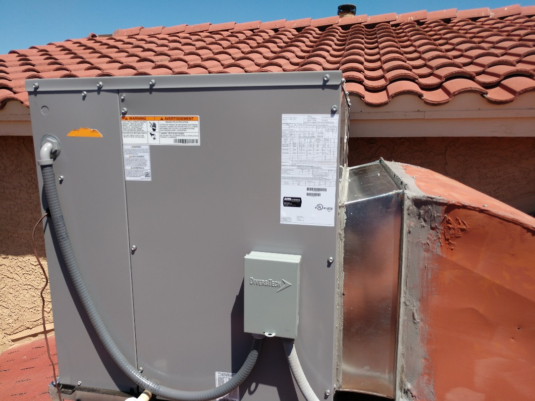 Phoenix, AZ - Air conditioning installation. Installed day and night package heat pump