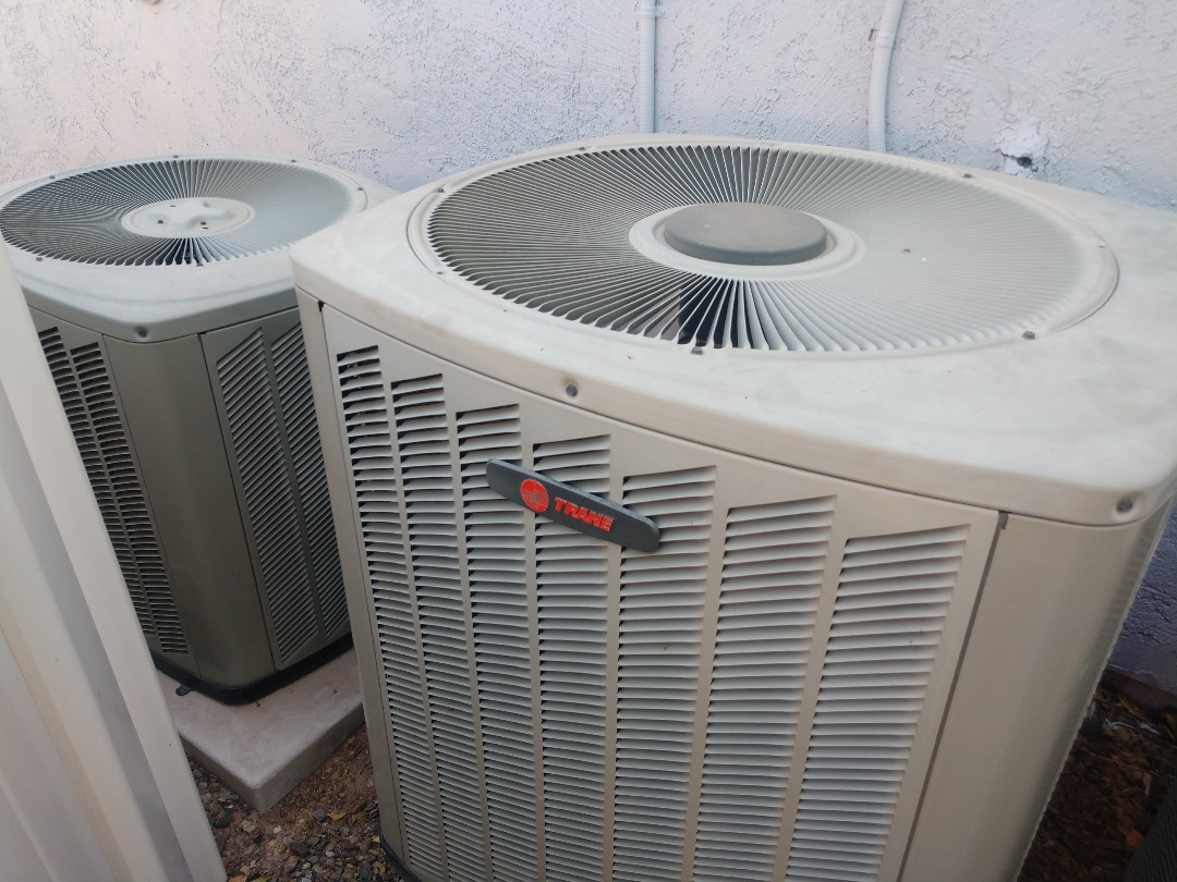 Gilbert, AZ - Air conditioning Repair. Performed ac Repair on trane package heat pump