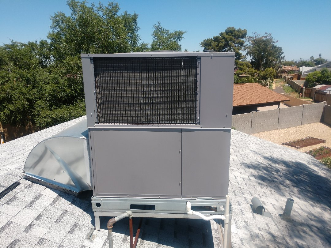 Phoenix, AZ - Ac maintenance. Performed air conditioning tune up on day and night gaspack