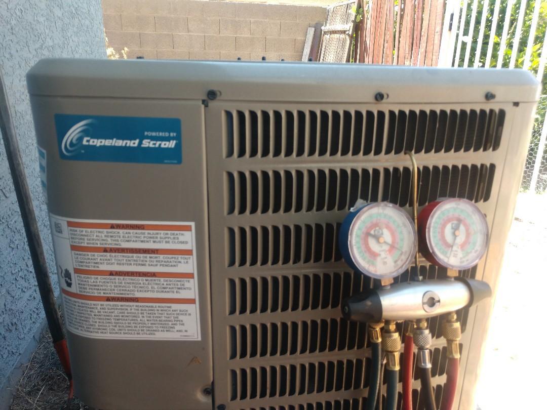 Glendale, AZ - Air conditioning inspection. Performed ac maintenance on Goodman heat pump