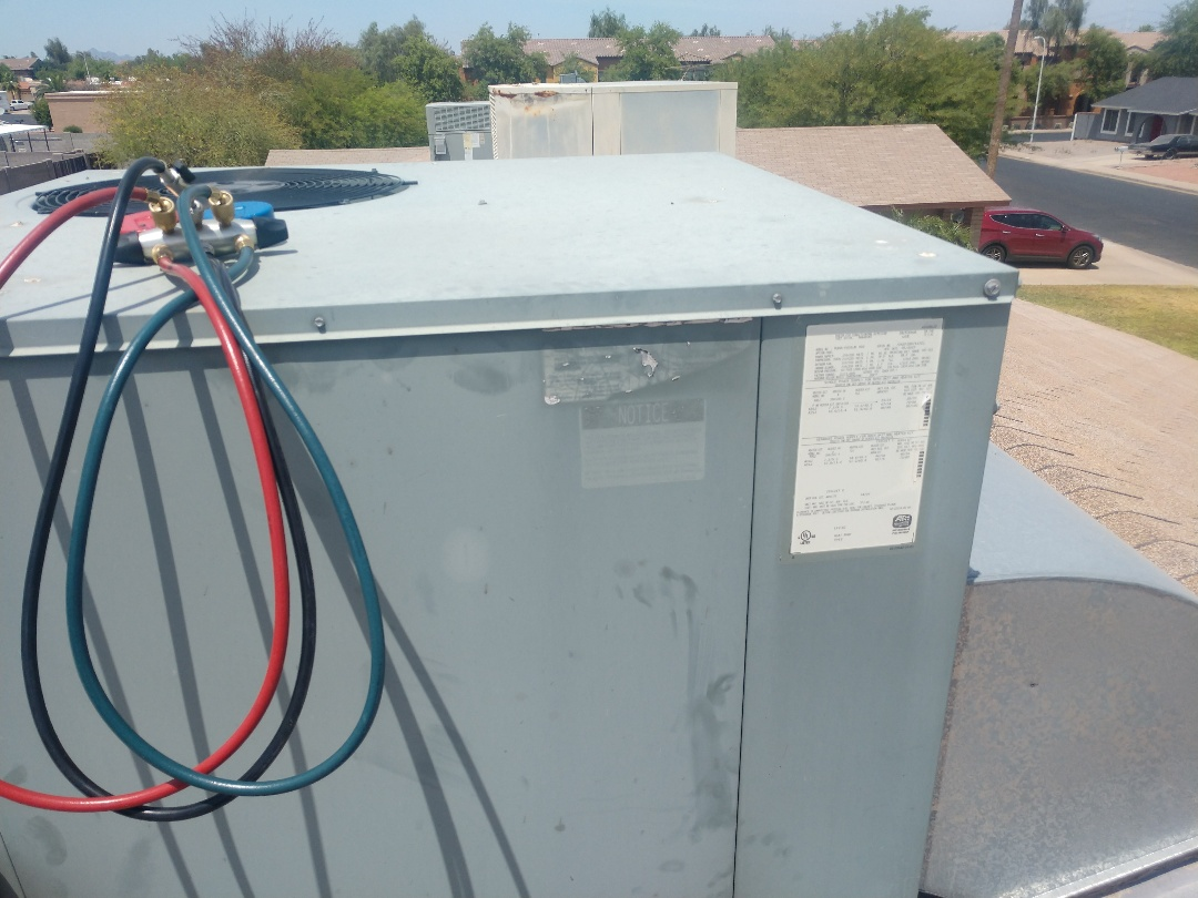 Tempe, AZ - Air conditioning tune up. Performed ac maintenance on Rheem package heat pump