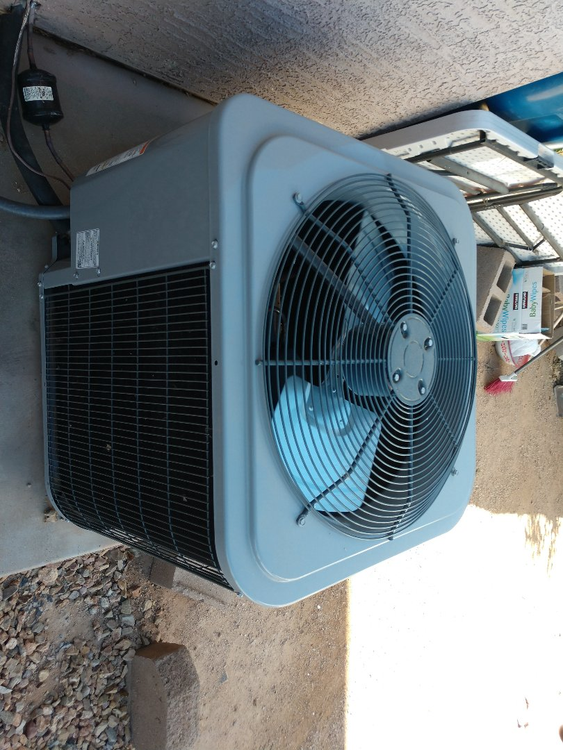 Apache Junction, AZ - Air conditioning tune up. Performed ac maintenance on day & night heat pump