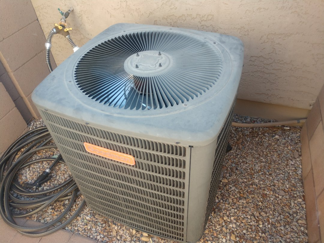 Gilbert, AZ - Ac tune up. Performed air conditioning maintenance on Goodman package heat pump