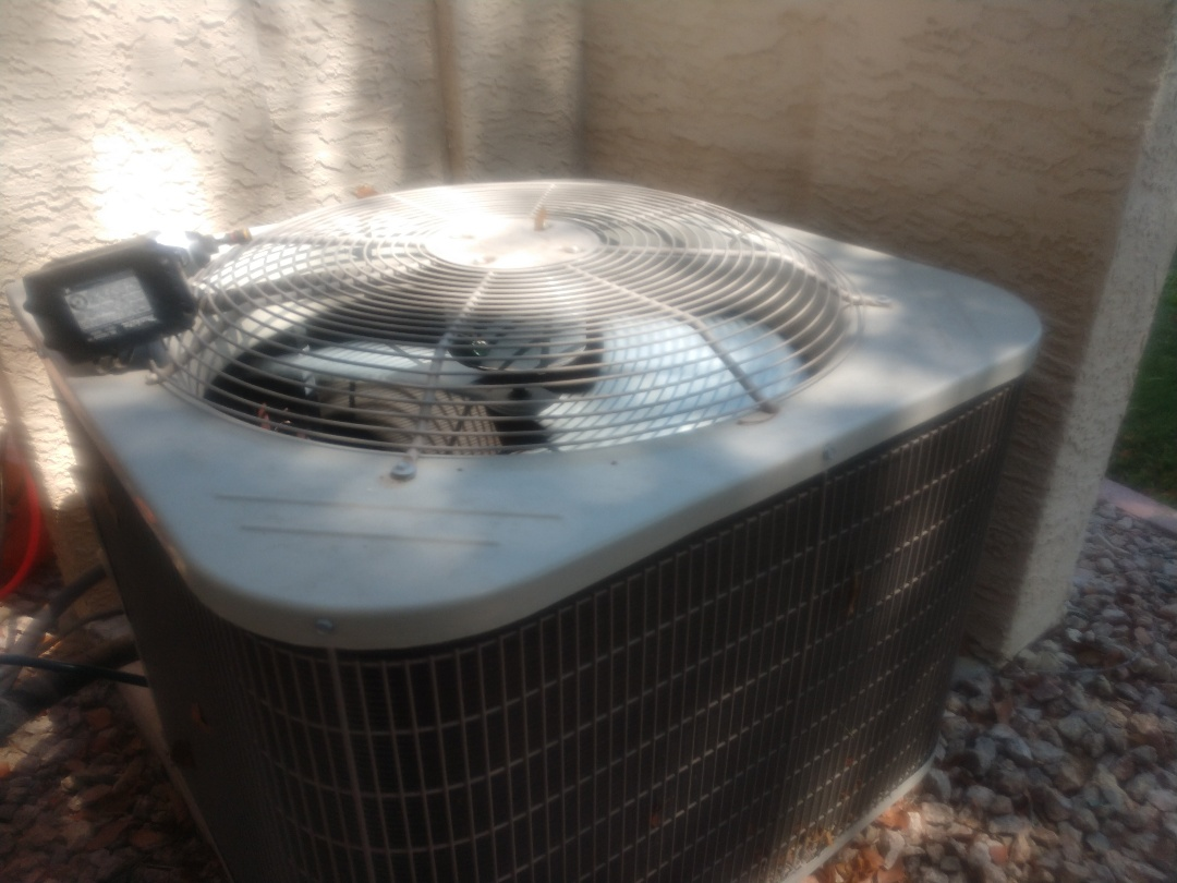 Mesa, AZ - Air conditioning inspection. Performed ac maintenance on day and night package heat pump