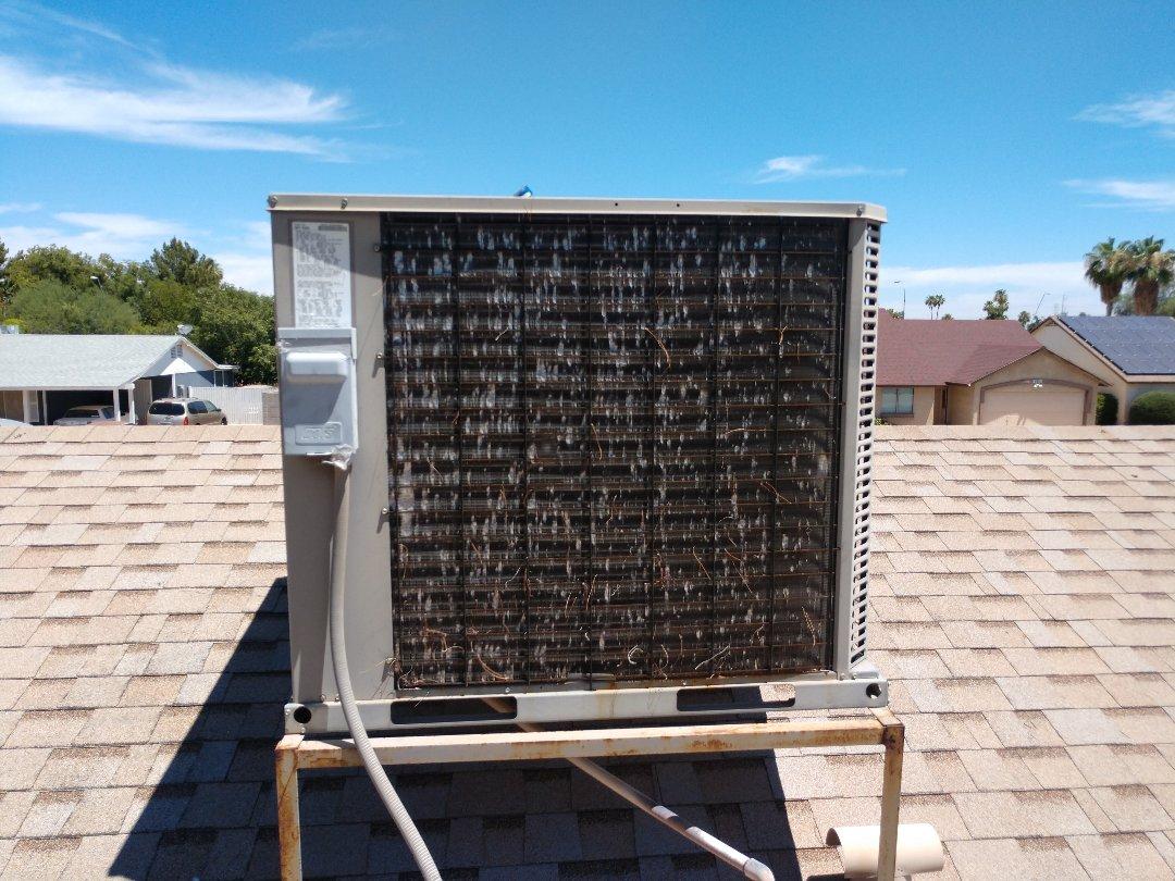 Chandler, AZ - Ac Repair. Performed air conditioning Repair on York package heat pump