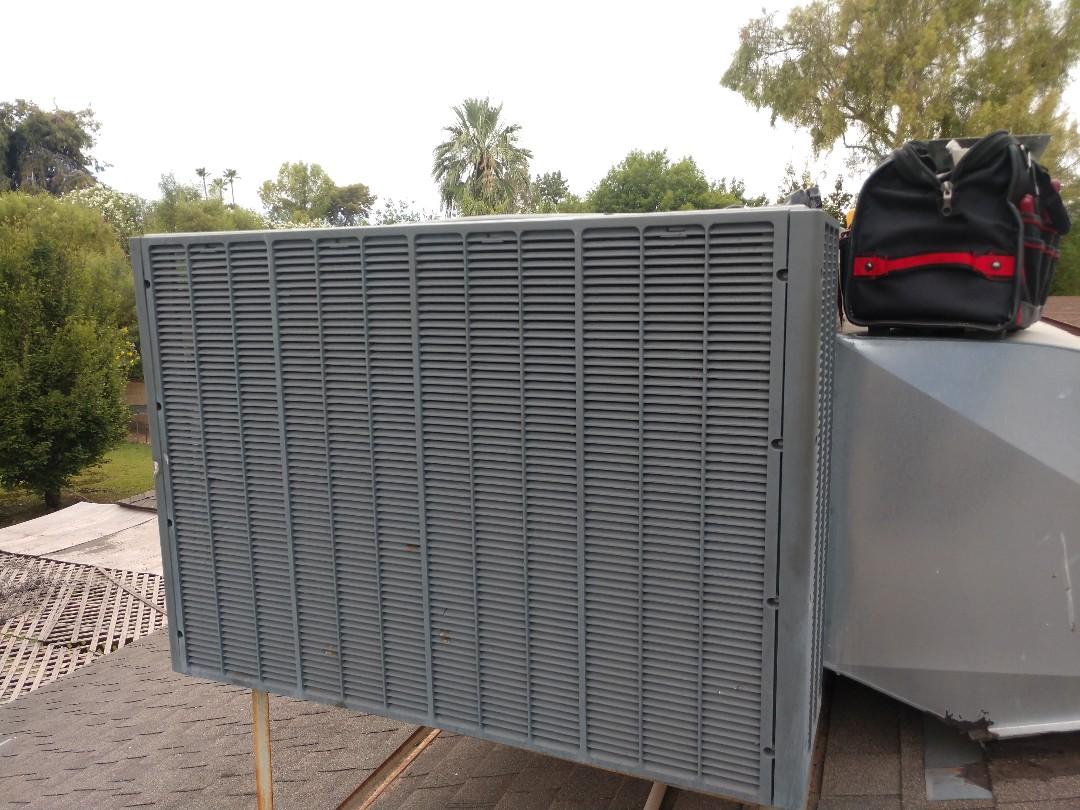 Scottsdale, AZ - Air conditioning Repair. Performed ac Repair on trane package heat pump