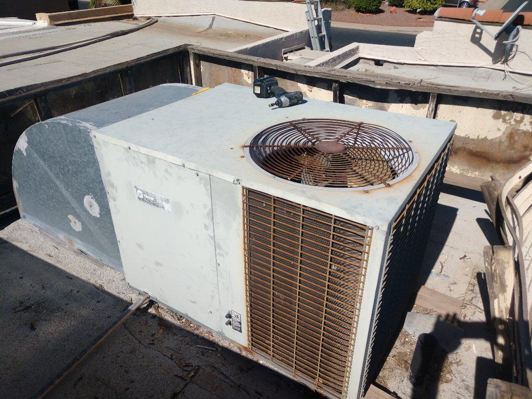 Tempe, AZ - Ac Repair. Performed air conditioning Repair on trane package heat pump