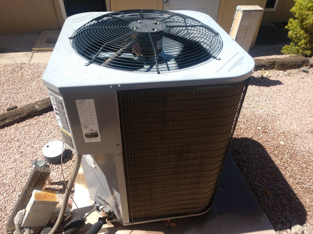Mesa, AZ - Air conditioning Repair. Performed ac Repair on day and night heat pump