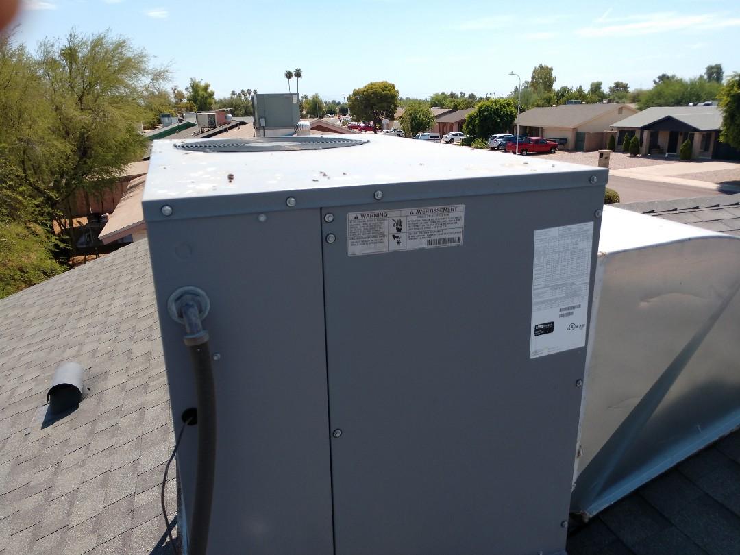 Tempe, AZ - Ac Repair. Performed air conditioning Repair on Payne package heat pump