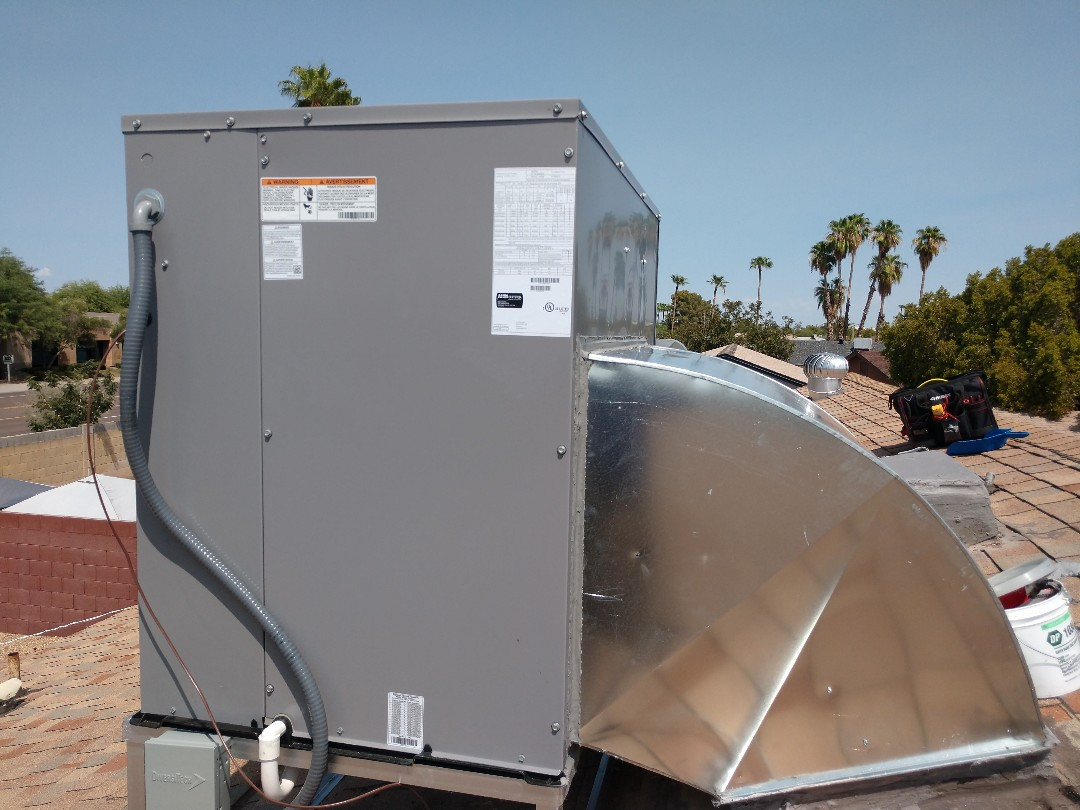 Tempe, AZ - Air conditioning installation. Installed day & night package heat pump