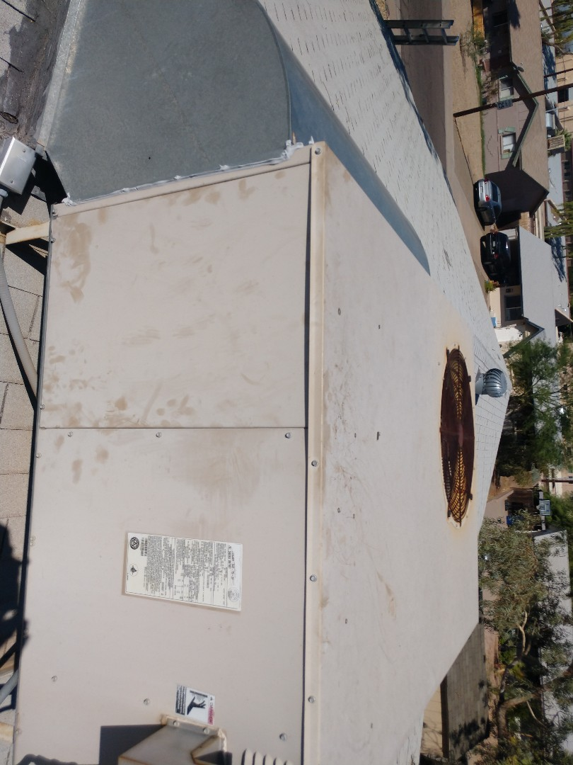 Tempe, AZ - Ac Repair. Performed air conditioning Repair on Lennox package heat pump