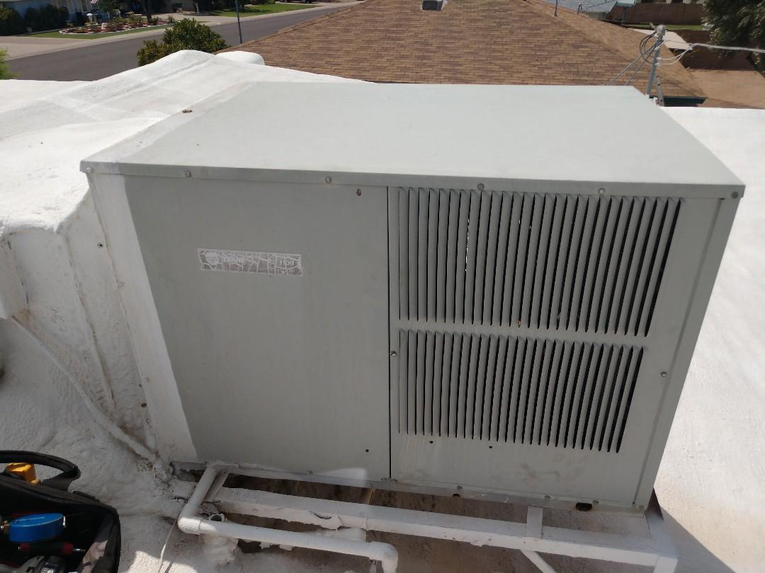 Ac Repair. Performed air conditioning Repair on trane package heat pump