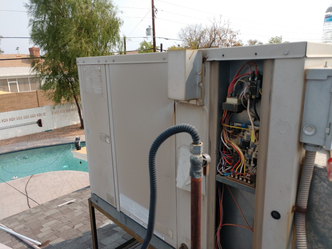 Tempe, AZ - Ac Repair. Performed air conditioning Repair on amana heat pump