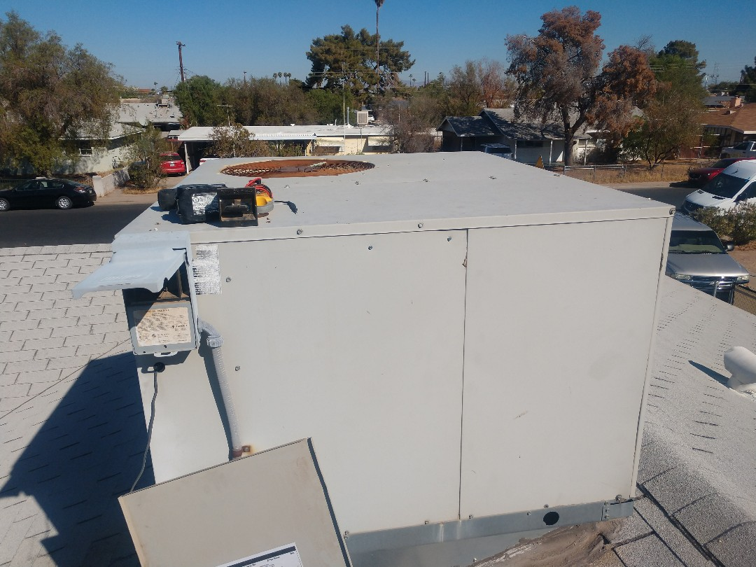 Mesa, AZ - Fall heating inspection. Performed heating tune up on trane package heat pump