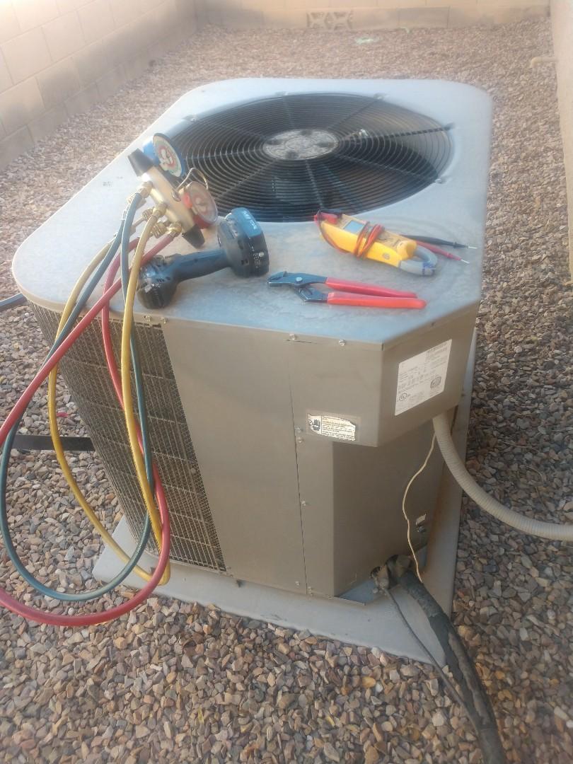 Phoenix, AZ - Heating inspection. Performed heating tune up on coleman heat pump