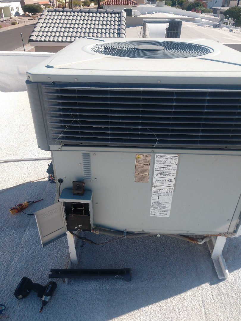 Scottsdale, AZ - Heating inspection. Performed heating maintenance on trane package heat pump.