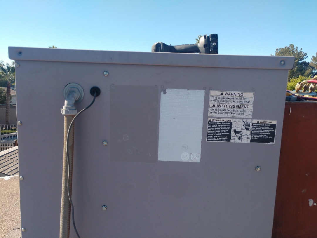 Mesa, AZ - Heating inspection. Performed heating tune up on day and night heat pump