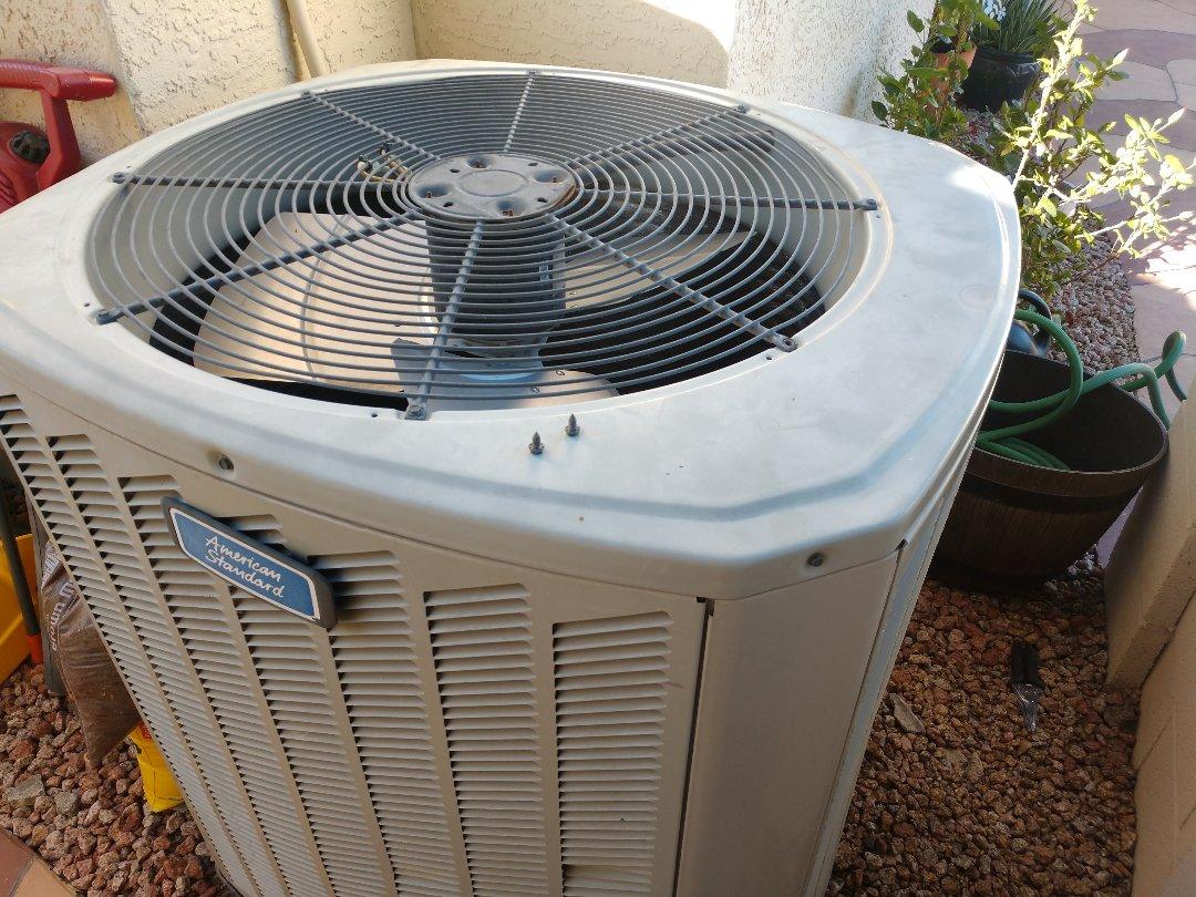 Phoenix, AZ - Heating inspection. Performed heating tune up on trane heat pump