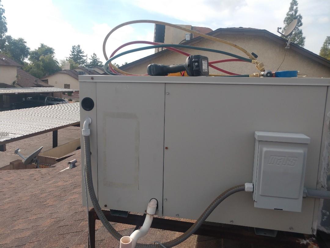 Gilbert, AZ - Heating maintenance. Performed heating tune up on carrier heat pump