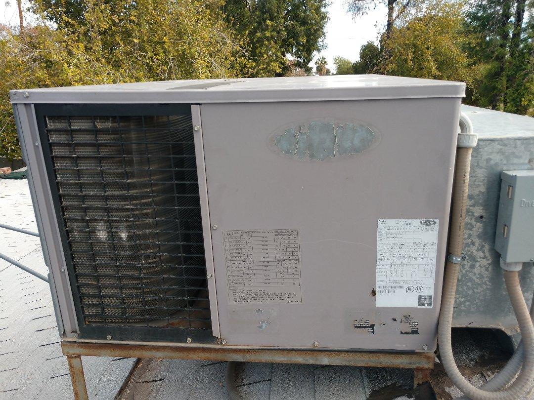 Phoenix, AZ - Heating repair. Performed heating repair on carrier heat pump
