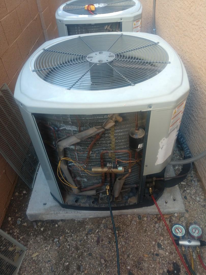 Scottsdale, AZ - Heating repair. Performed heating repair on trane heat pump