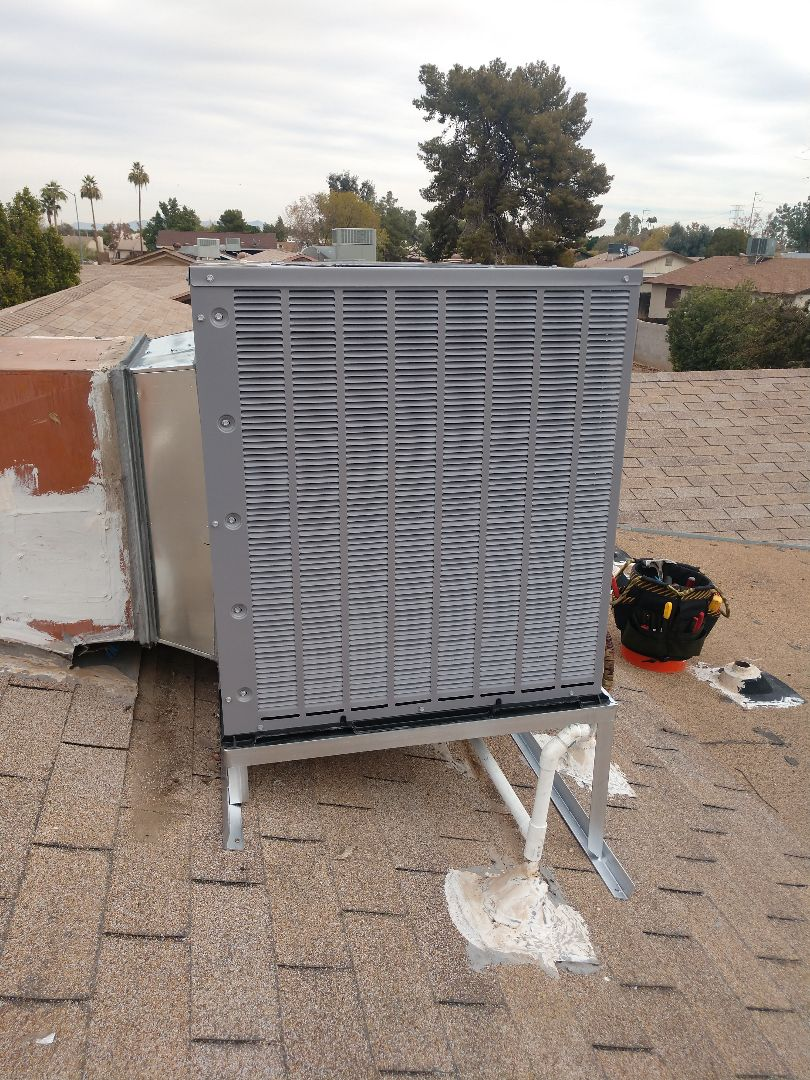 Mesa, AZ - Heat pump installation. Installed day and night heat pump