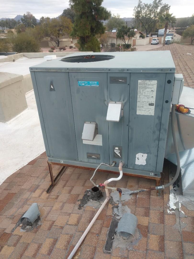 Scottsdale, AZ - Heating inspection. Performed heating tune up on goodman furnace