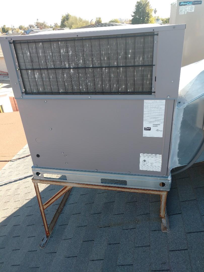 Glendale, AZ - Heating repair. Performed heating repair on by day and night heat pump