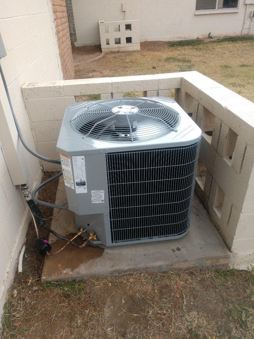 Tempe, AZ - Heating Installation. Installed day and night heat pump