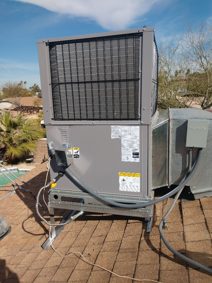 Tempe, AZ - Heat pump Installation. Installed 2 Day and night package heat pumps