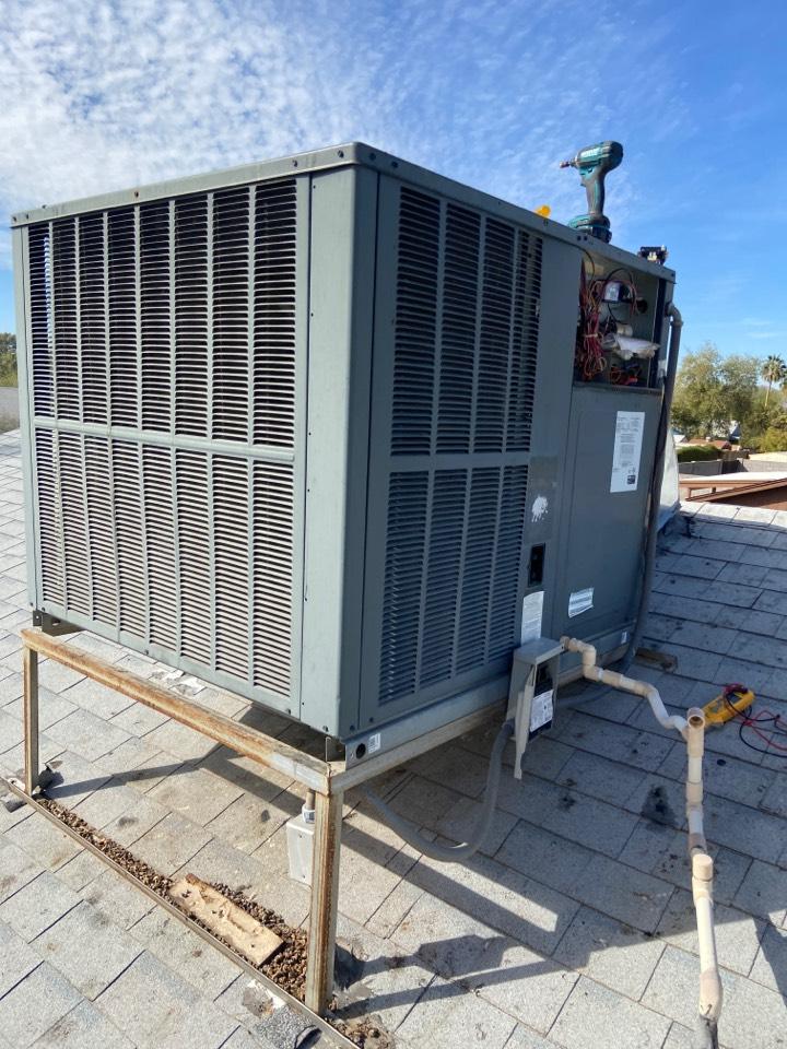 Tempe, AZ - Heating call. Heating repair on Goodman heater