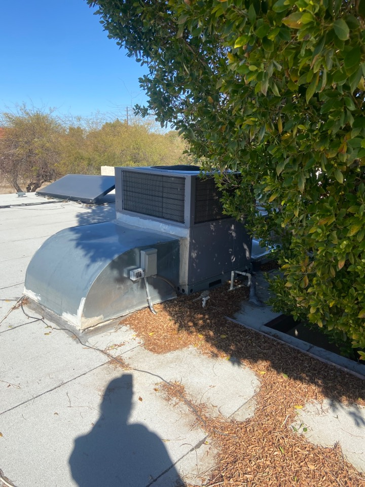Scottsdale, AZ - Cooling call. Cooling maintenance on one package heat pump