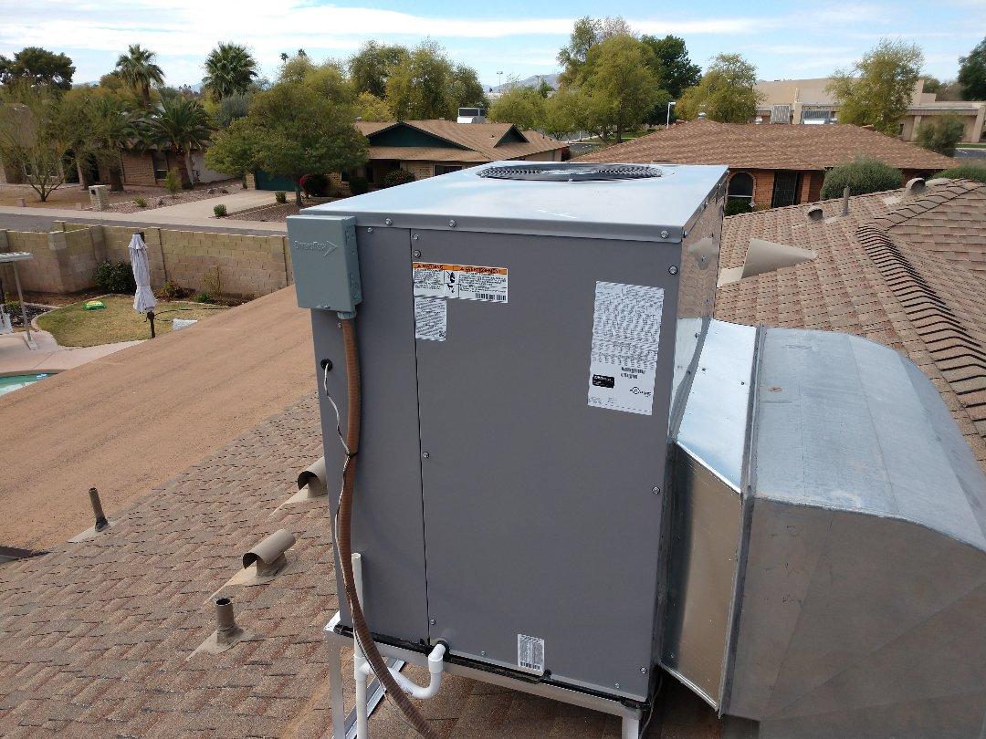 Tempe, AZ - Heat pump Installation. Installed day and night heat pump