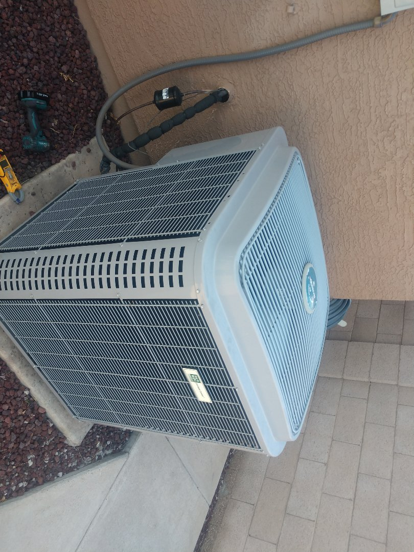 Ac tune up. Performed air conditioning Inspection on day and night heat pump