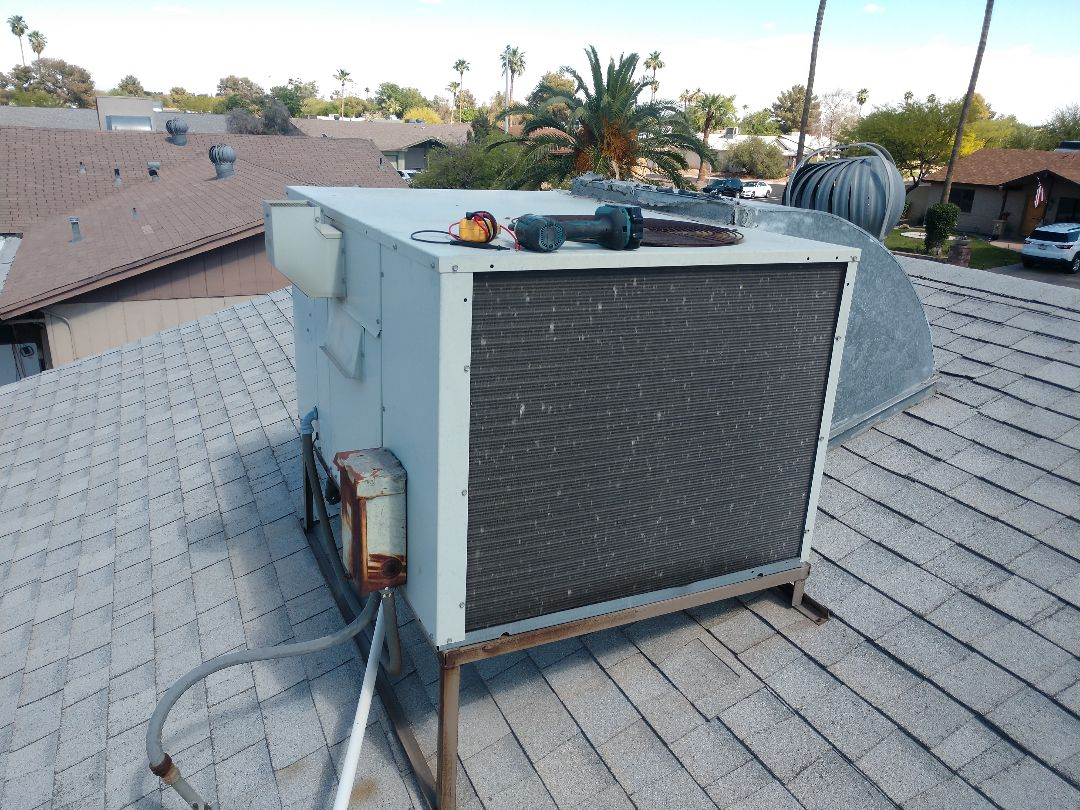 Tempe, AZ - Air conditioning Inspection. Performed ac tune up on trane heat pump