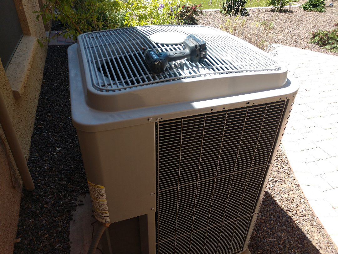 Scottsdale, AZ - Ac tune up. Performed air conditioning Inspection on day and night heat pump