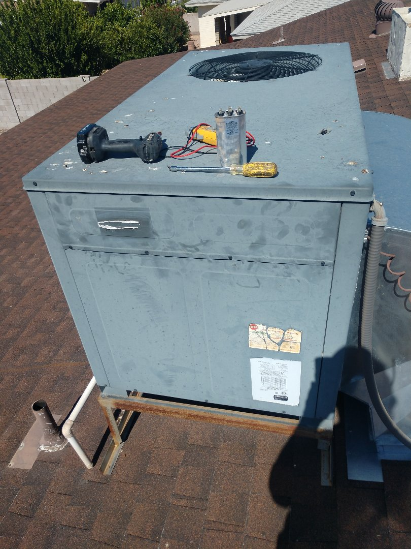 Air conditioning Inspection. Performed ac tune up on goodman heat pump