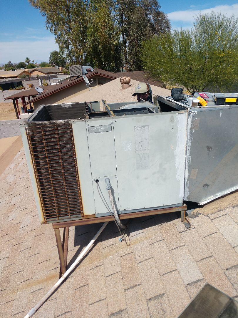 Air conditioning Repair. Performed ac repair on trane heat pump