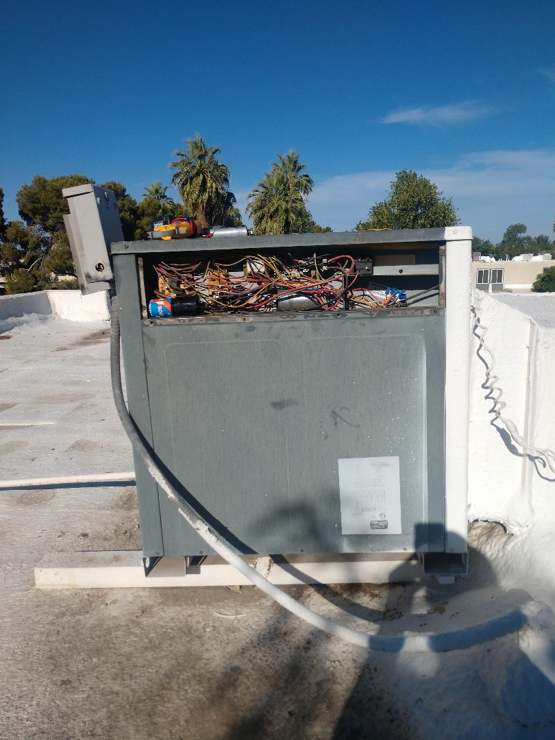 Air conditioning Repair. Performed ac repair on goodman heat pump