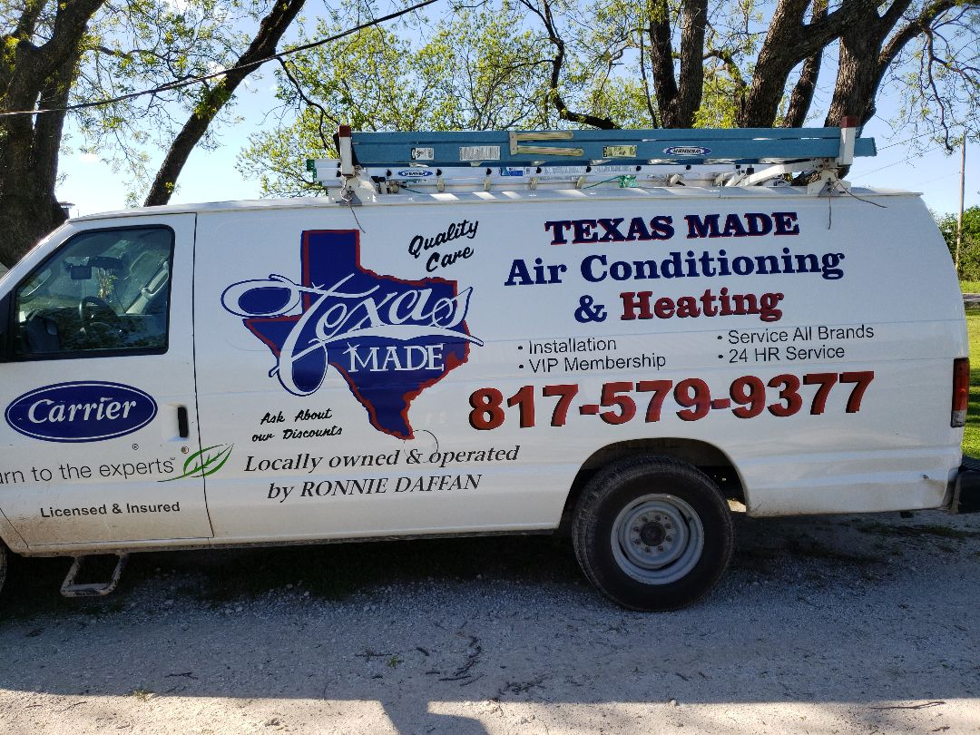 Performing an air conditioning maintenance for a client in Tolar, Texas.