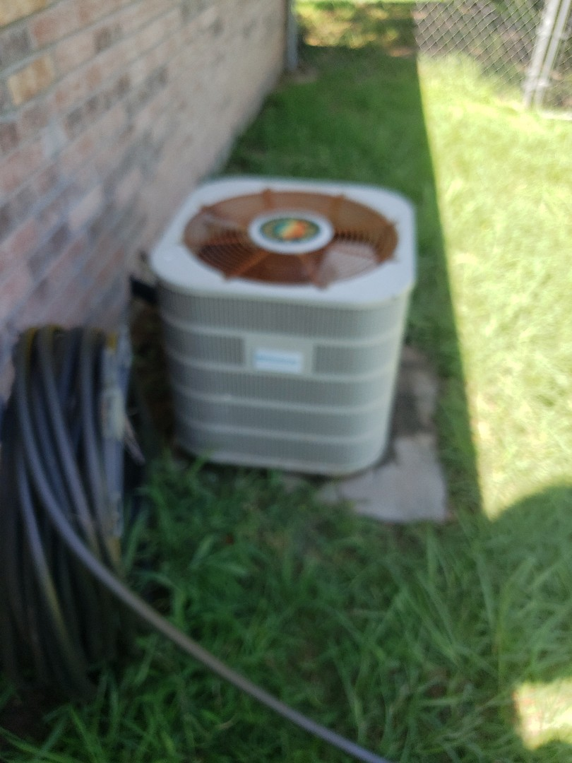 Preforming air conditioning service for a client in granbury