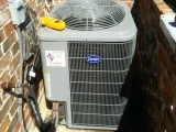 A 5 ton carrier air handler and condenser, for a small family in pecan plantation.