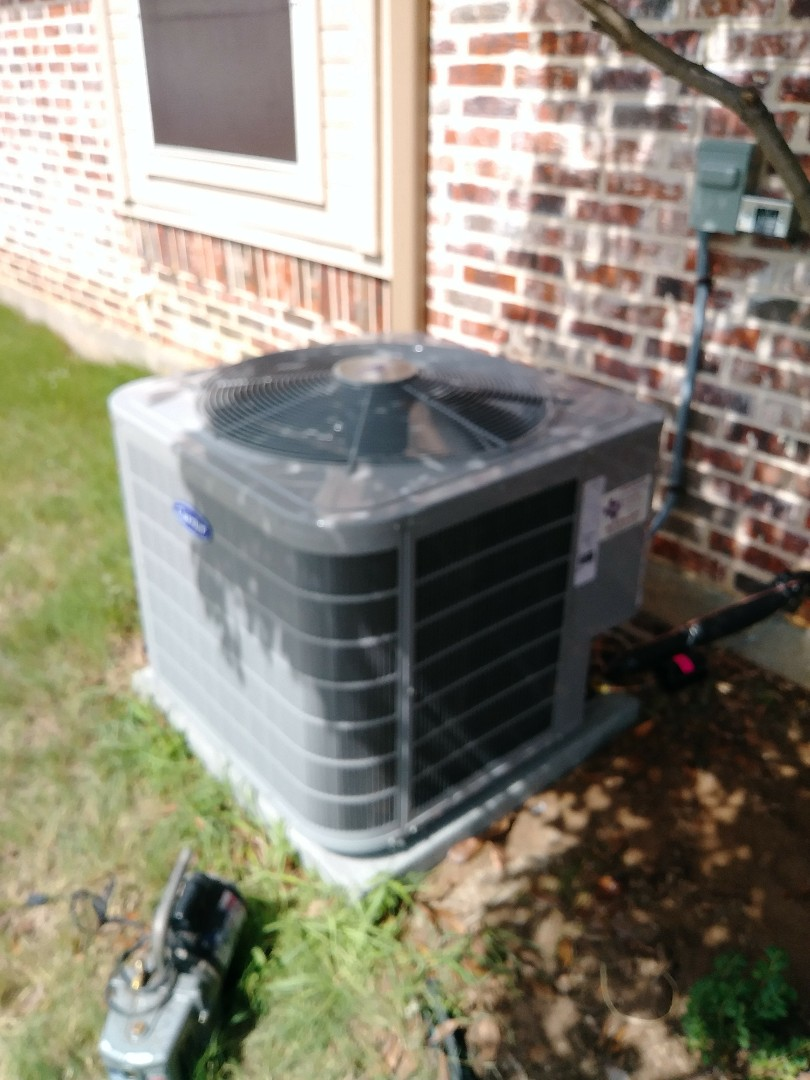 Installed two new carrier split systems for a small family in cresson tx